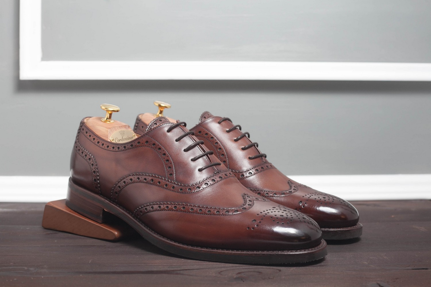 Оксфорд Броги Cordwainer Strand Brown